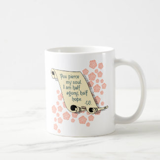 Jane Austen's Persuasion half agony, half hope mug