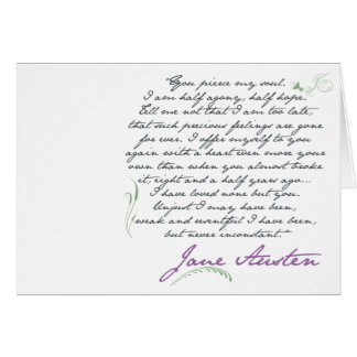 Jane Austen's Persuasion Quote #1 Greeting Card