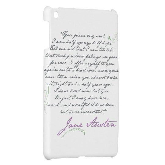Jane Austen's Persuasion Quote #1 iPad mini case