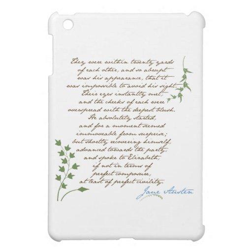 Jane Austen's Pride & Prejudice Quote #1 iPad Mini Cover