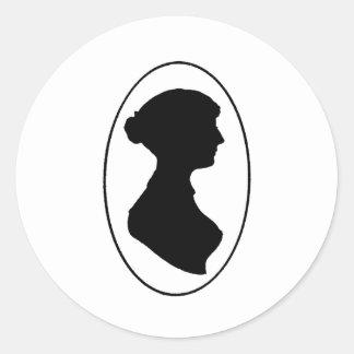 Jane Austen's Silhouette Classic Round Sticker