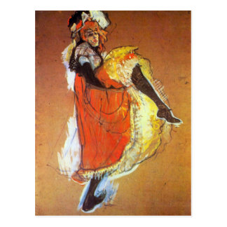 Jane Avril Dancing by Toulouse-Lautrec Postcard