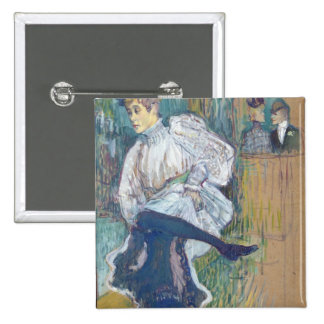 Jane Avril  Dancing, c.1892 2 Inch Square Button