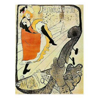 Jane Avril Vintage French cancan Lady Postcard