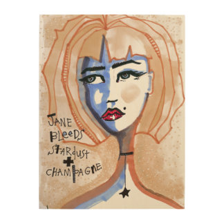 Jane Bleeds Stardust and Champagne Wood Prints