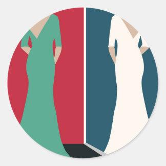 Jane Eyre Design Classic Round Sticker