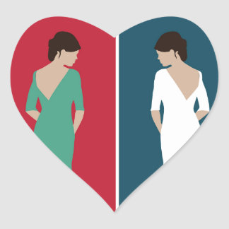 Jane Eyre Design Heart Sticker