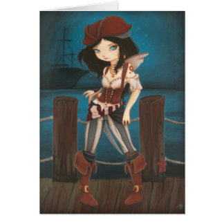 Jane - fantasy Fairy Pirate card