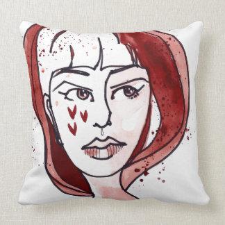 Jane Felt Determined Throw Pillow