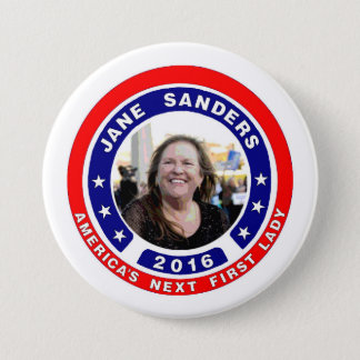 Jane Sanders for First Lady 3 Inch Round Button