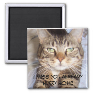 Jane says..HURRY HOME I MISS YOU ALREADY Magnet