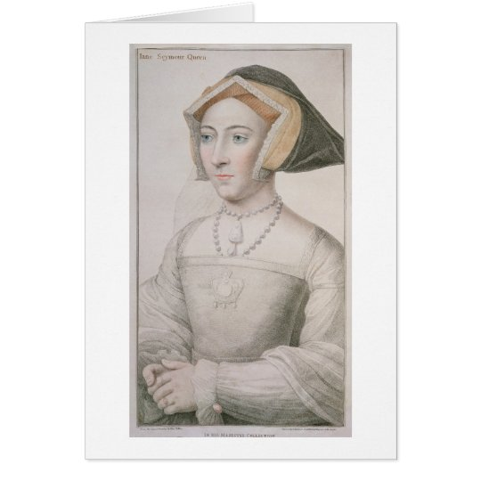Jane Seymour (c.1509-37) engraved by Francesco Bar Card