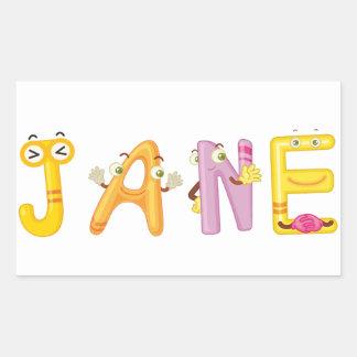 Jane Sticker