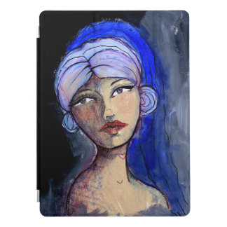 Jane with the Blue Veil iPad Pro Cover