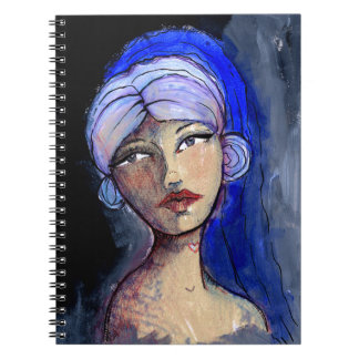 Jane with the Blue Veil Notebook