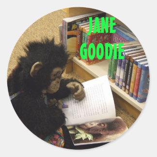 jane's everywhere 013, JANE GOODIE, JANE GOODIE Classic Round Sticker