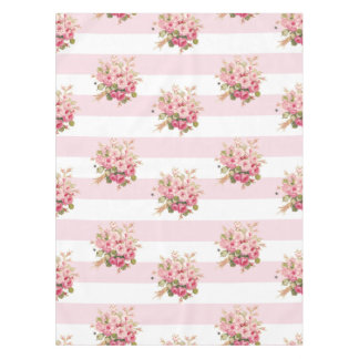 Jane's Rose Bouquet peony stripe shower curtain Tablecloth