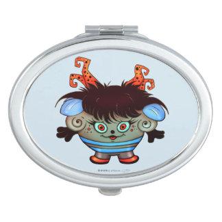 JANET ALIEN MONSTER CARTOON compact mirror OVAL