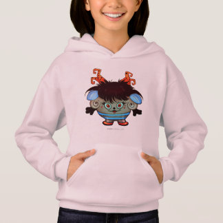 JANET ALIEN MONSTER CARTOON Hoodie Girl Pale Pink