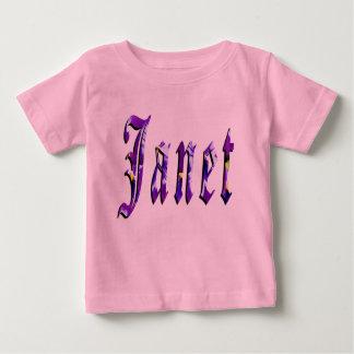 Janet, Name, Logo, Baby Girls Pink T-shirt