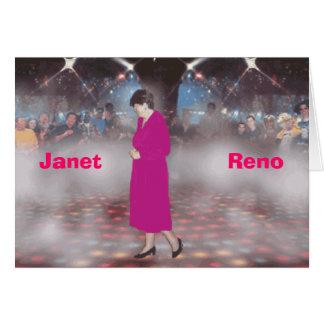 Janet                  Reno Card
