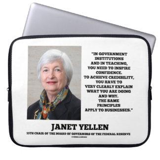 Janet Yellen Govt Institutions Teaching Inspire Laptop Computer Sleeves