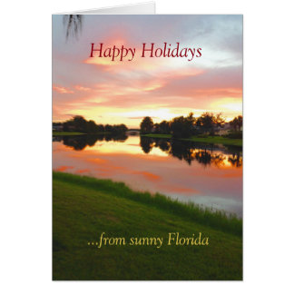 Janice custom tropical Xmas card