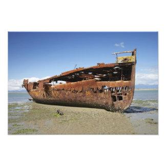 Janie Seddon Shipwreck, Motueka, Nelson Photograph