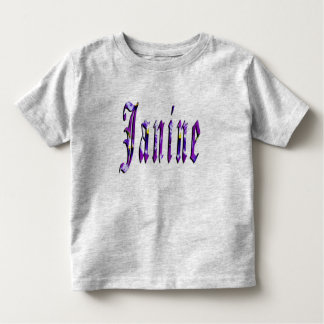 Janine, Name, Logo, Toddlers Grey T-shirt