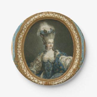 Janinet Portrait of Marie-Antoinette Fine Art Paper Plate