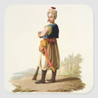 Janissary, from 'Costumes of the Various Nations', Stickers