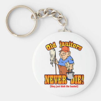 Janitors Basic Round Button Keychain