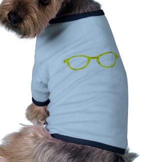Jante jaune de lunettes de soleil les cadeaux de Z T-shirts Pour Chien
