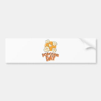 January 19th - Popcorn Day - Appreciation Day Bumper Sticker