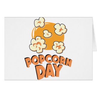 January 19th - Popcorn Day - Appreciation Day Card