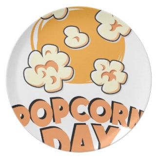 January 19th - Popcorn Day - Appreciation Day Dinner Plates
