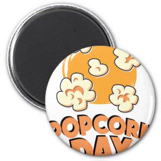 January 19th - Popcorn Day - Appreciation Day Magnet