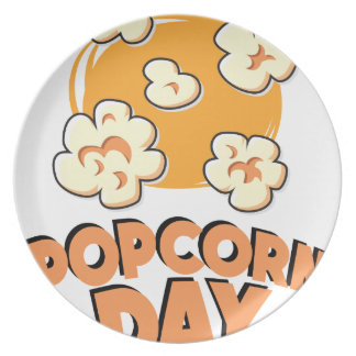 January 19th - Popcorn Day - Appreciation Day Plate