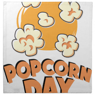 January 19th - Popcorn Day - Appreciation Day Printed Napkin