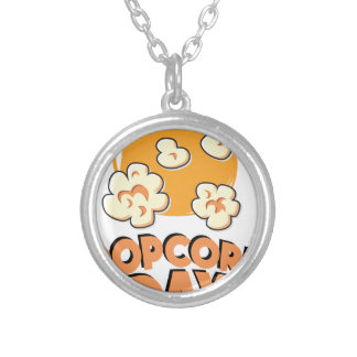 January 19th - Popcorn Day - Appreciation Day Silver Plated Necklace