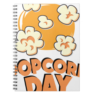 January 19th - Popcorn Day - Appreciation Day Spiral Notebook