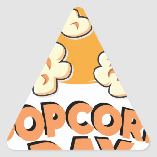 January 19th - Popcorn Day - Appreciation Day Triangle Sticker