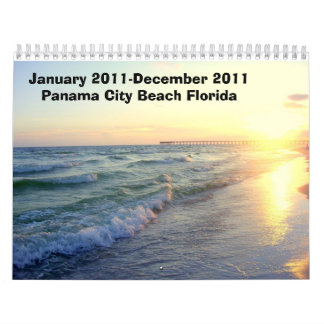 January 2011-December 2011 Panama City Beach Pics Wall Calendars