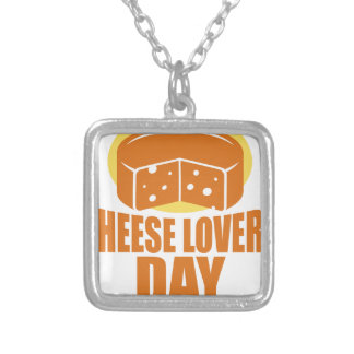 January 20th - Cheese Lovers Day Silver Plated Necklace