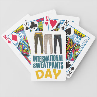 January 21st  - International Sweatpants Day Bicycle Playing Cards