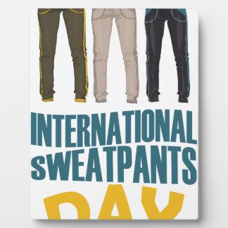 January 21st  - International Sweatpants Day Plaque