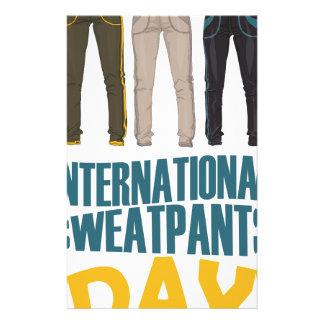 January 21st  - International Sweatpants Day Stationery