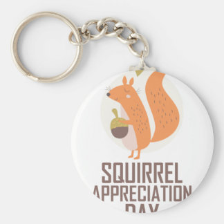 January 21st - Squirrel Appreciation Day Keychain