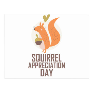January 21st - Squirrel Appreciation Day Postcard