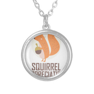 January 21st - Squirrel Appreciation Day Silver Plated Necklace